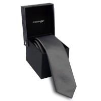 Keskeny nyakkendő dobozban - szürke