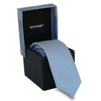 Keskeny, világoskék nyakkendő díszdobozban