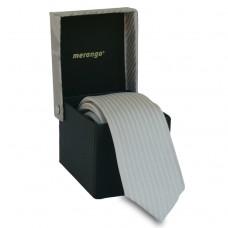 Keskeny, világosszürke nyakkendő díszdobozban