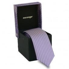 Keskeny, világoslila nyakkendő díszdobozban