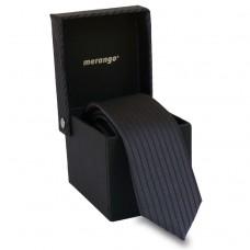 Keskeny, sötétszürke nyakkendő díszdobozban