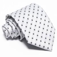 Fehér nyakkendő - fekete mintás