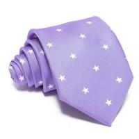 Kék nyakkendő - fehér csillagos