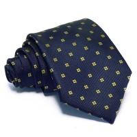 Tengerészkék nyakkendő - arany mintás