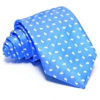 Tengerkék nyakkendő - fehér mintás