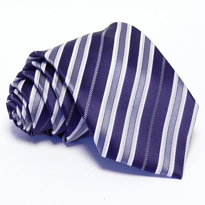3acec006c1 Lila-ezüst színű csíkos nyakkendő