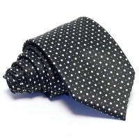 Fekete nyakkendő - fehér pöttyös