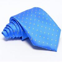Türkizkék nyakkendő - citromsárga mintás