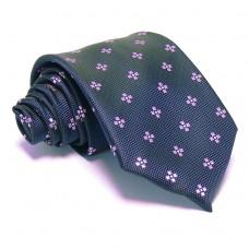 Tengerészkék nyakkendő - rózsaszín mintás