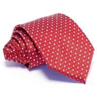 Piros nyakkendő - fehér pöttyös
